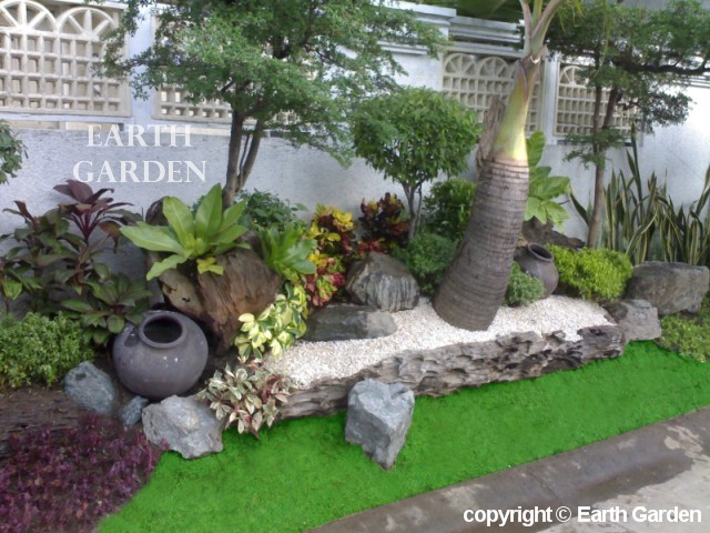 Landscaping ideas zen garden native home garden design for Tropical home garden design