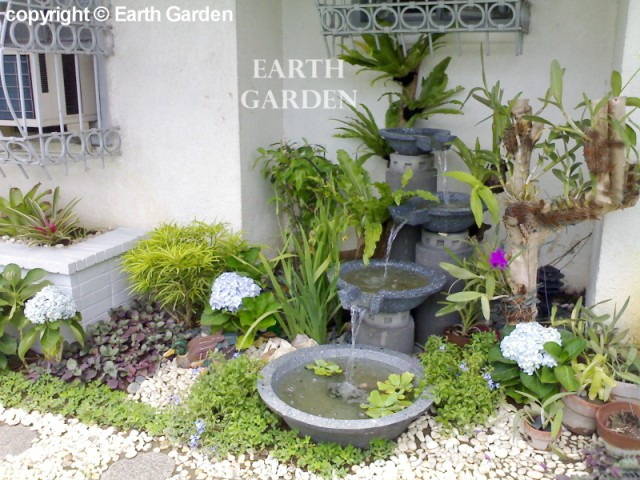 Earth garden landscaping philippines photo gallery tropical gardens - Water features for small spaces plan ...
